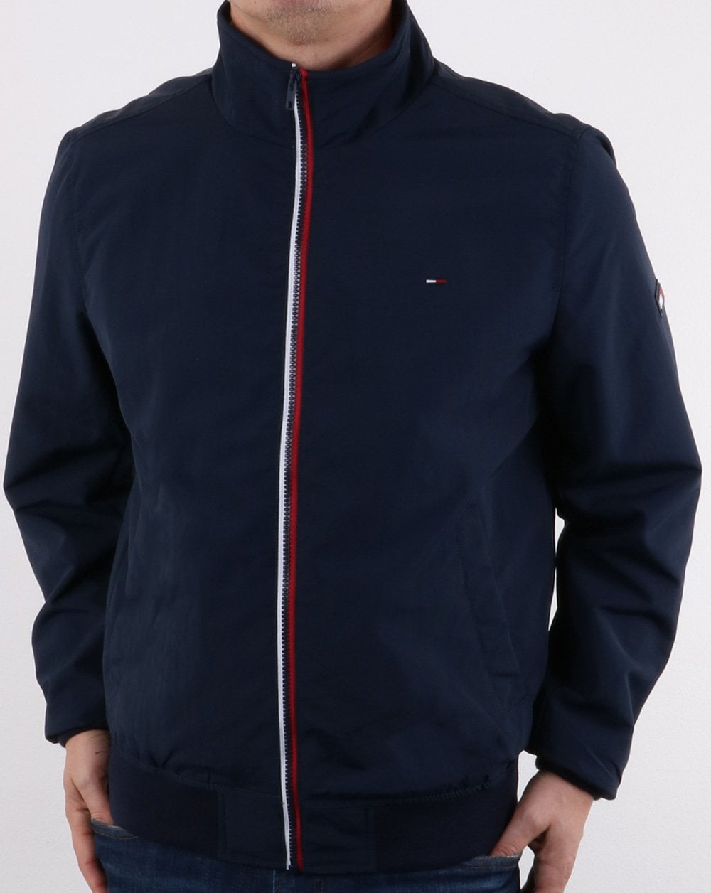 e61772a6 Tommy Hilfiger Casual Bomber Jacket Navy | 80s casual classics