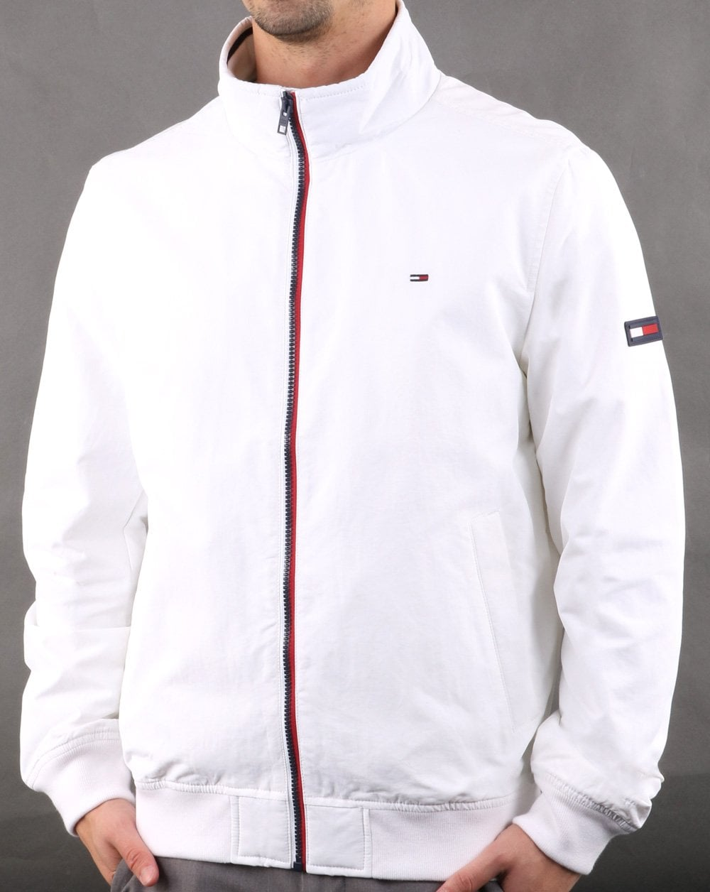 46aacbc6 Tommy Hilfiger Bomber Jacket white | 80s Casual Classics