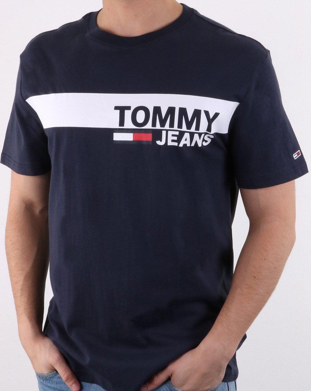 ea84f17e59a52 Tommy Hilfiger Jeans Tommy Hilfiger Box Logo Tee Black Iris