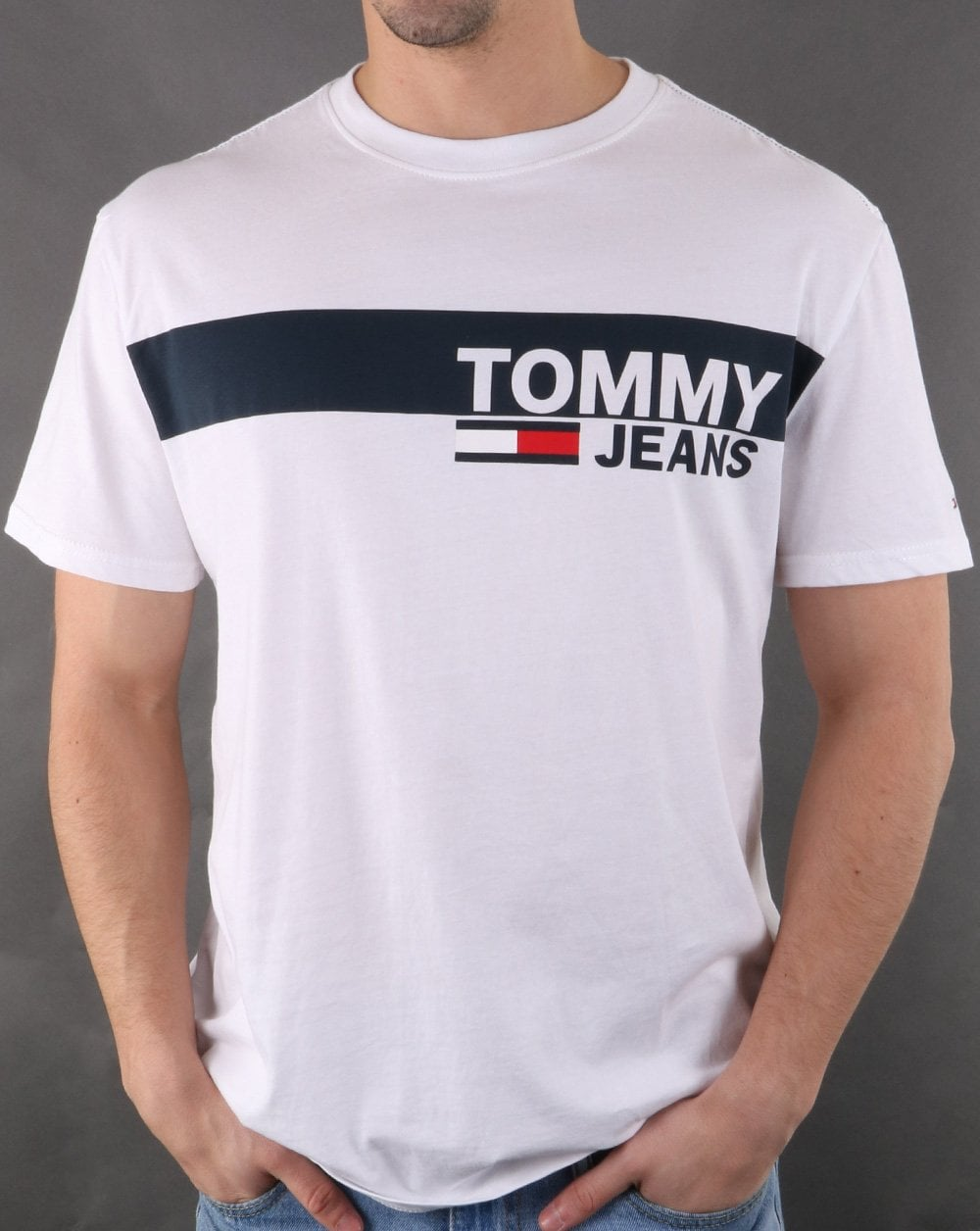 efe8582102333 Tommy Hilfiger Jeans Tommy Hilfiger Box Logo Tee Classic White