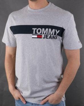 e934a4a1 Tommy Hilfiger Jeans Tommy Hilfiger Box Logo Tee Light Grey Heather