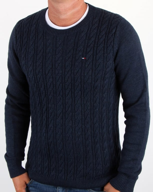 Tommy Hilfiger Cable Knit Jumper Navy
