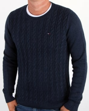Tommy Jeans Tommy Hilfiger Cable Knit Jumper Navy