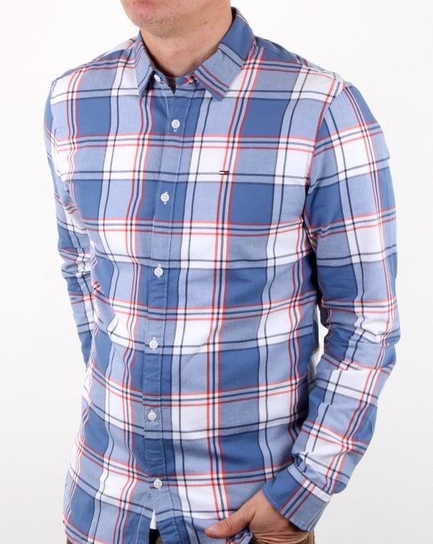Tommy Hilfiger Check Shirt Orange