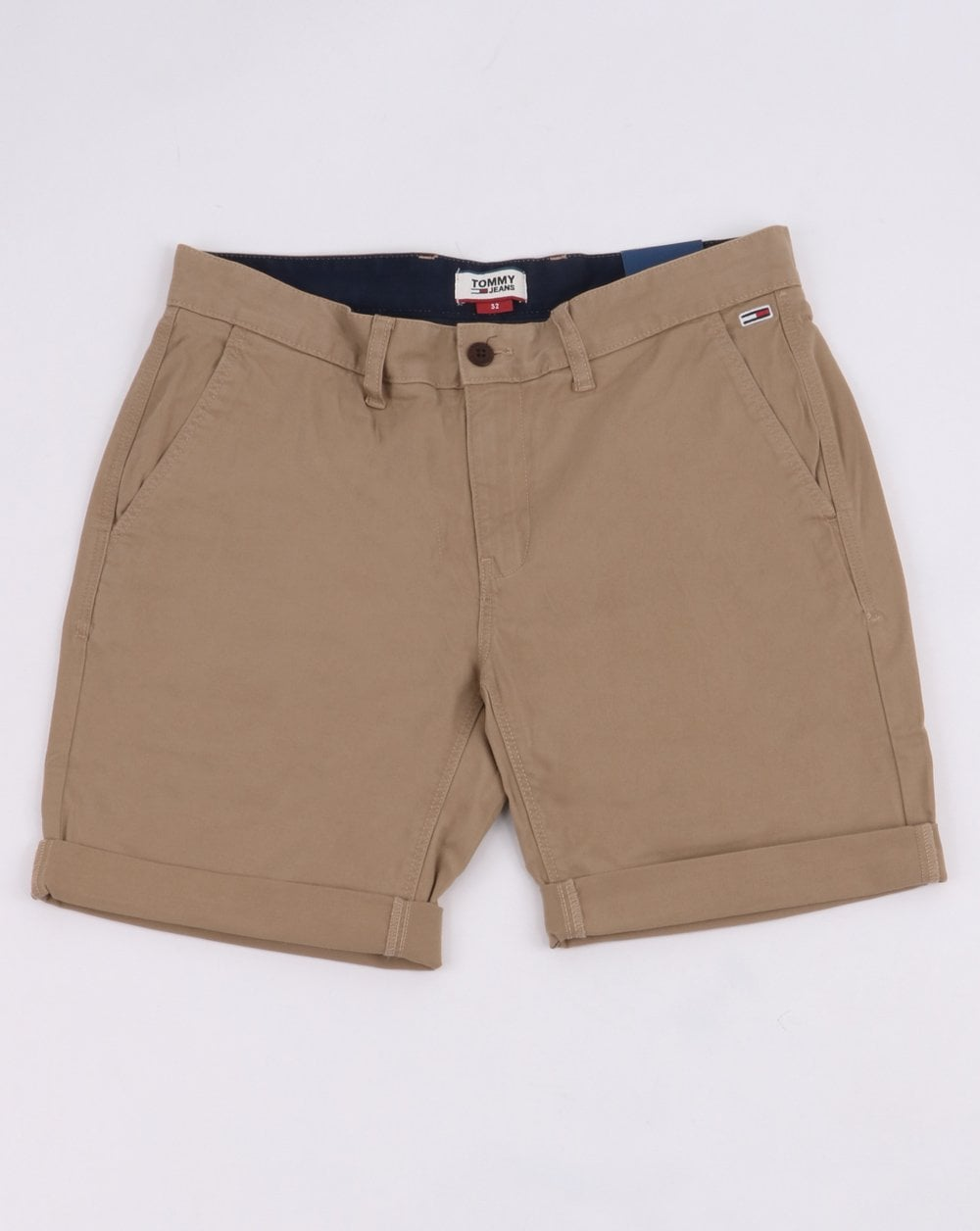 4976e410 Men's Clothing Shorts Tommy Hilfiger Mens Tommy Jeans Navy Blue Freddy  Chino Shorts W30 W32