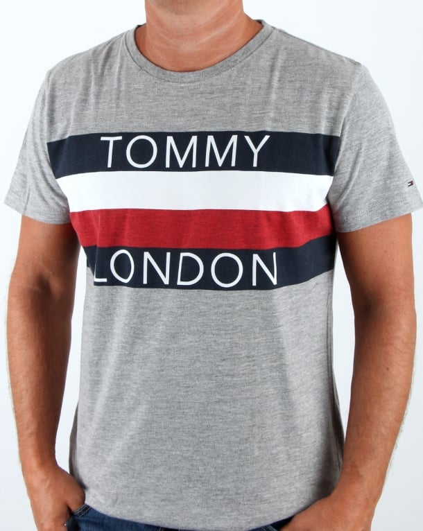 Tommy Hilfiger City T Shirt Light Grey Heather