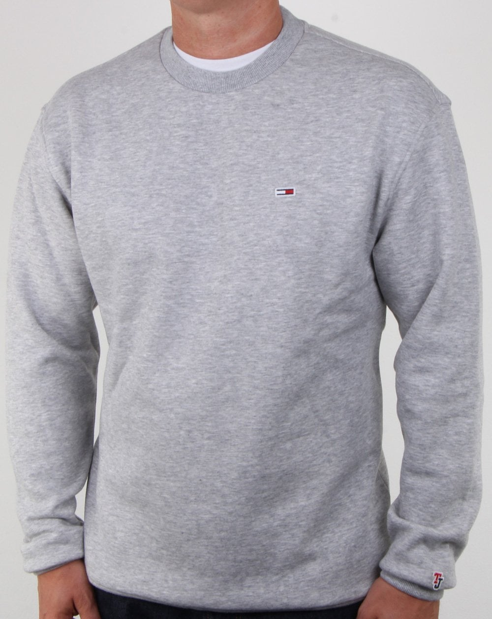 825539900 Tommy Hilfiger Jeans Tommy Hilfiger Classic Crew Neck Sweatshirt Grey  Heather