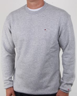 Tommy Hilfiger Jeans Tommy Hilfiger Classic Crew Neck Sweatshirt Grey Heather
