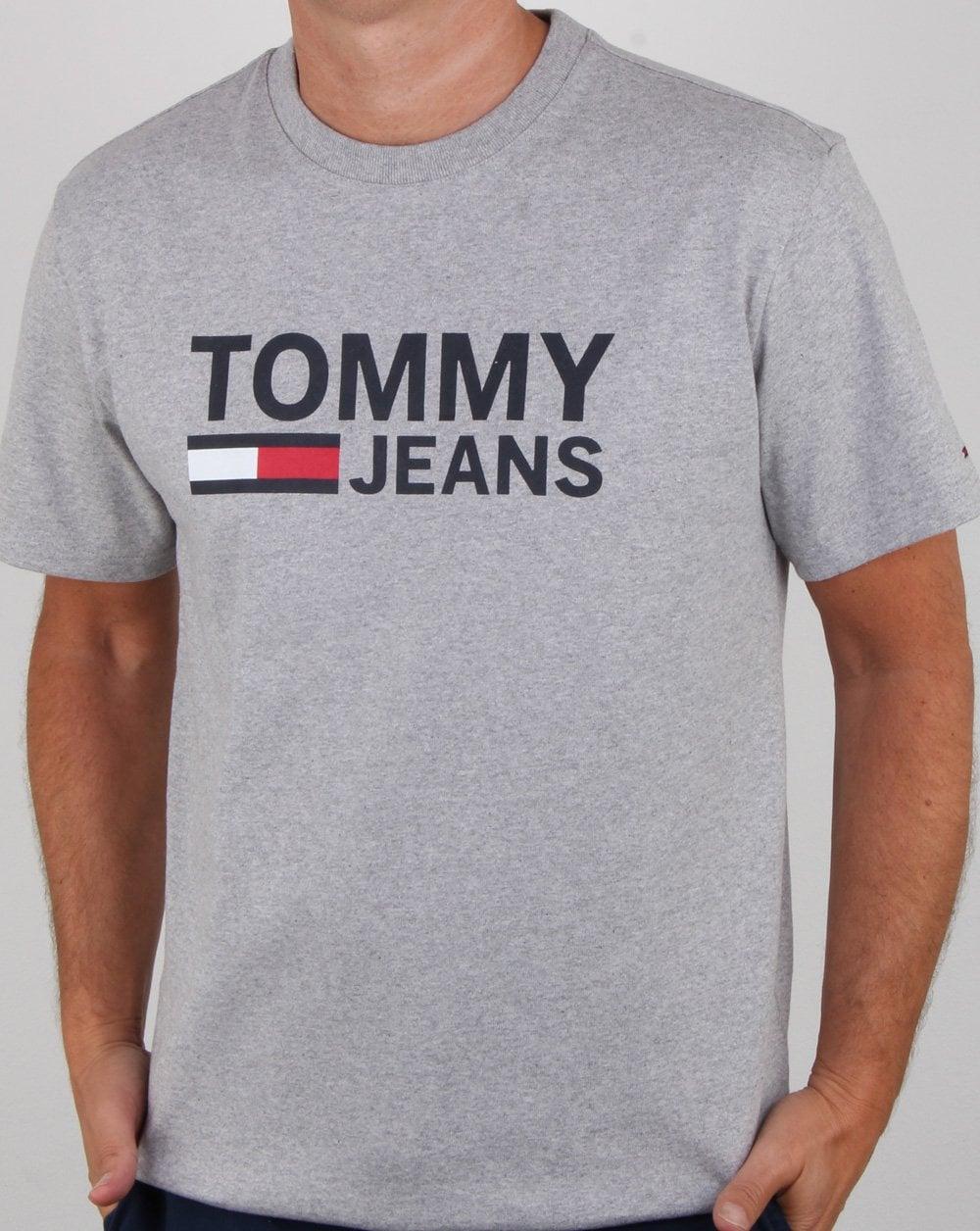 Tommy Hilfiger Classic Logo T shirt Grey Heather