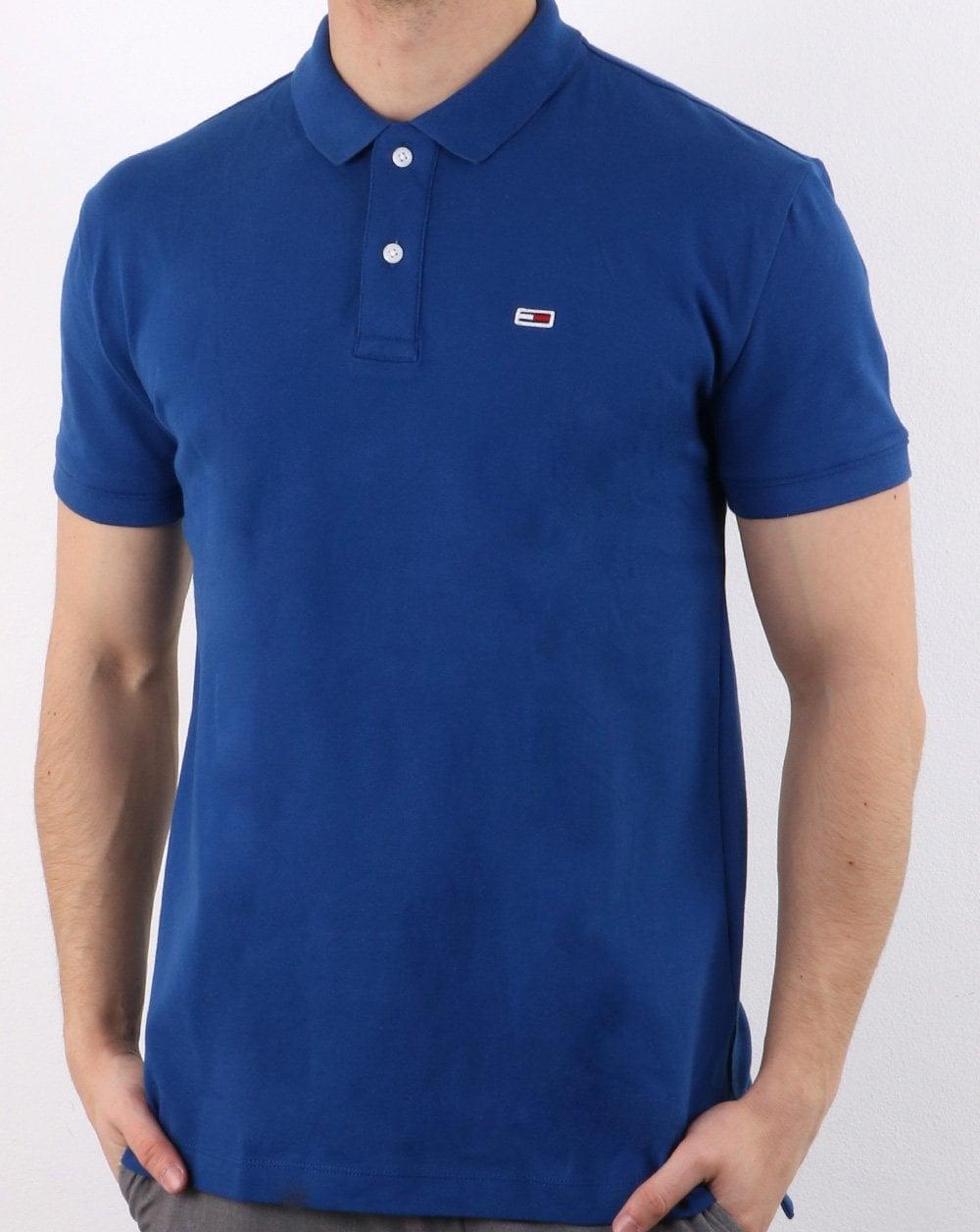42e23e4b389a6 Tommy Hilfiger Classic Pique Polo Shirt Blue | 80s casual classics