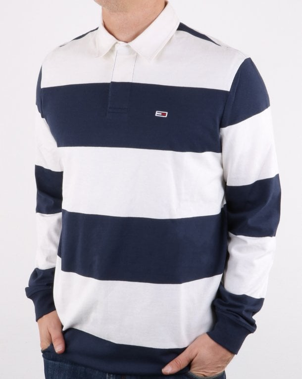 Tommy Hilfiger Classic Rugby Shirt Classic White/Navy