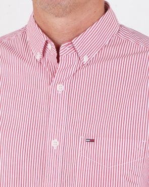 Tommy Hilfiger Jeans Tommy Hilfiger Classic Stripe Shirt Racing Red/white