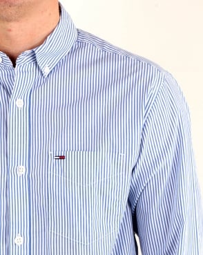 Tommy Hilfiger Jeans Tommy Hilfiger Classic Stripe Shirt WhiteBlue