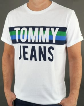Tommy Jeans Tommy Hilfiger Colorblock Font T Shirt Classic White