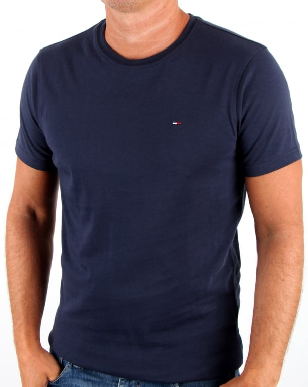 Tommy Hilfiger Cotton Crew Neck T Shirt Navy