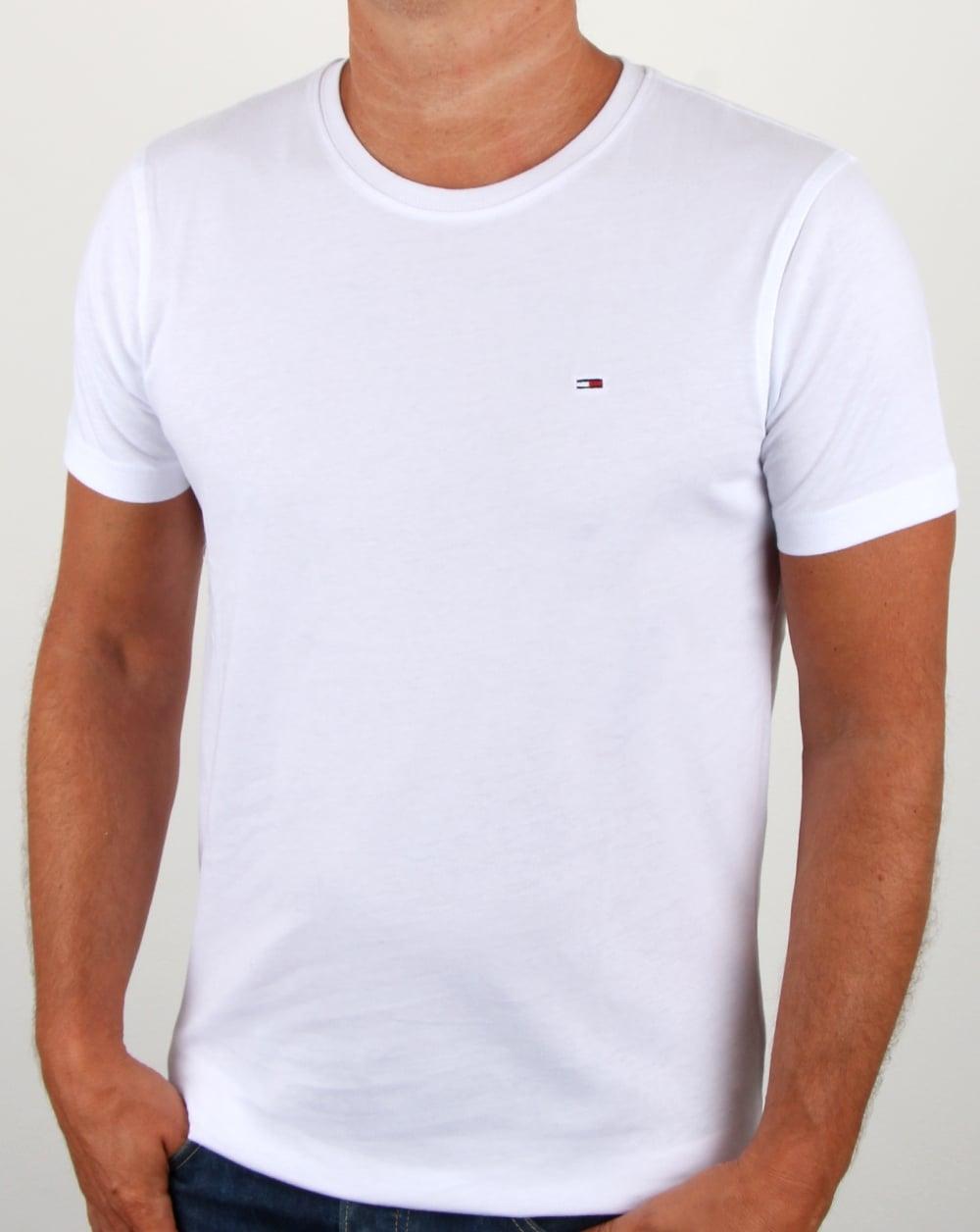 d911dba6 Tommy Hilfiger Cotton Crew Neck T Shirt White | 80s casual classics