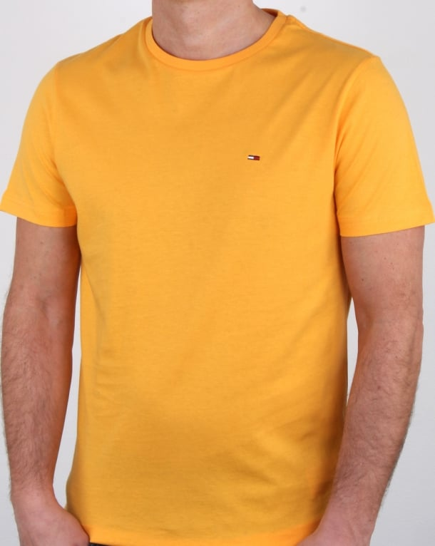 Tommy Hilfiger Cotton Crew Neck T Shirt Yellow