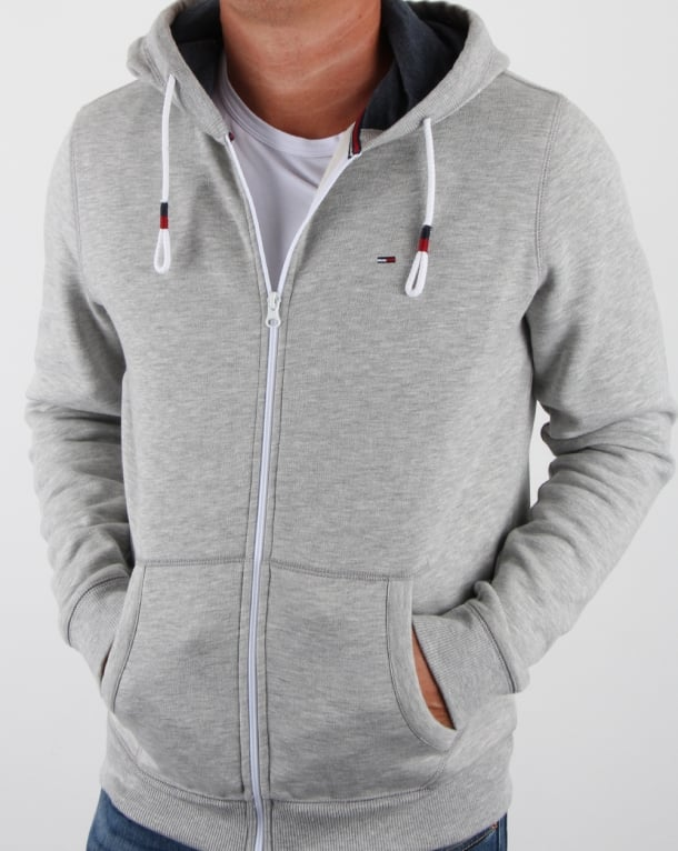 Tommy Hilfiger Cotton Fleece Hoody Light Grey Heather