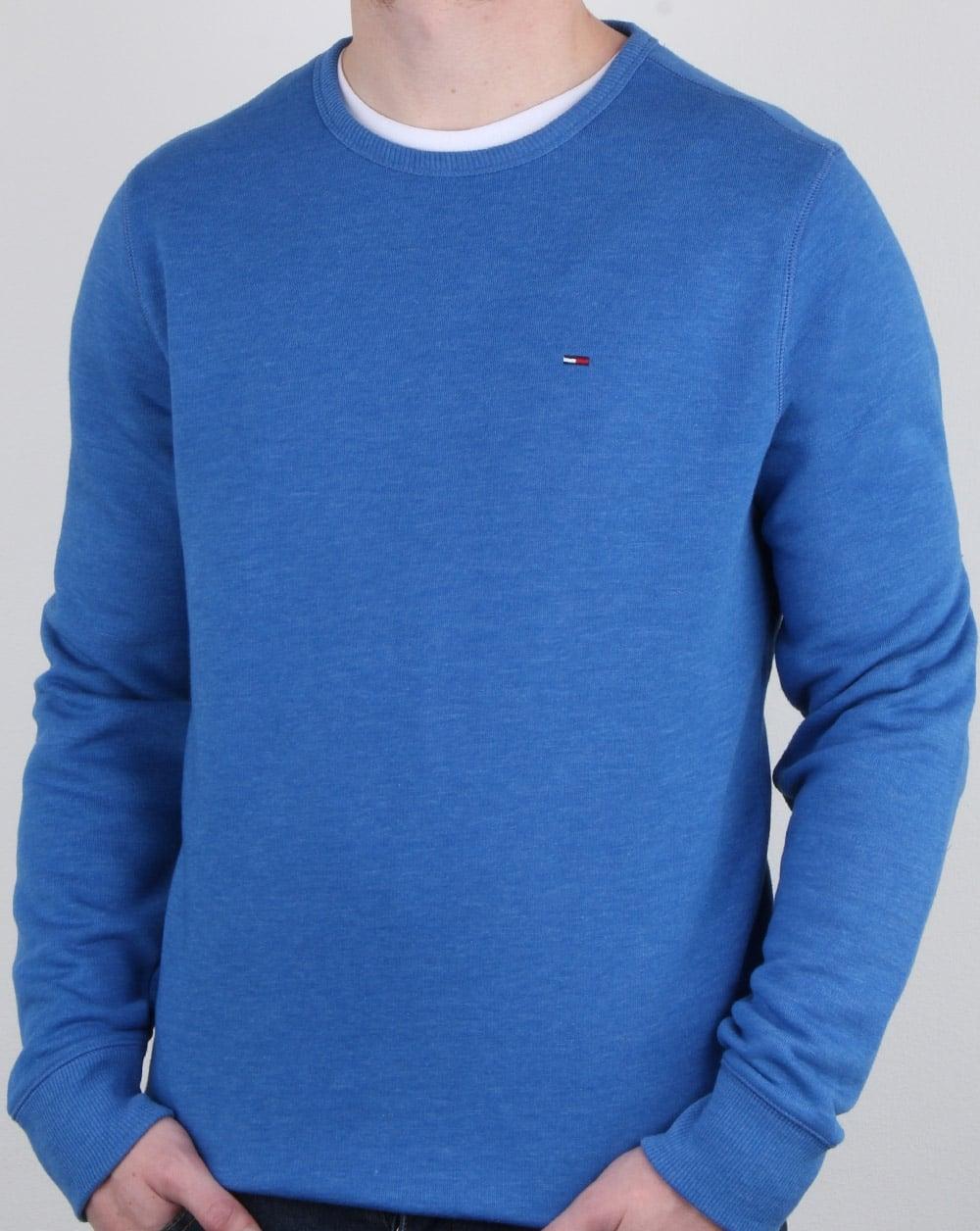 3744904a919 Tommy Hilfiger Jeans Tommy Hilfiger Cotton Fleece Sweatshirt Blue