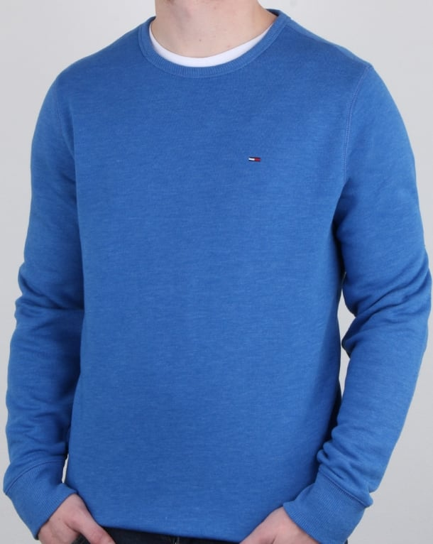 Tommy Hilfiger Cotton Fleece Sweatshirt Blue