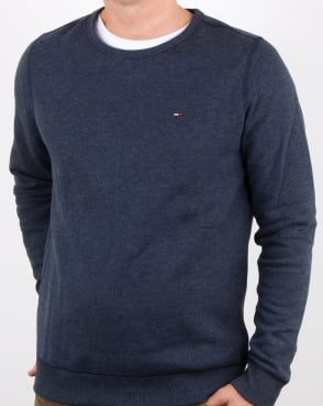 Tommy Hilfiger Cotton Fleece Sweatshirt Navy