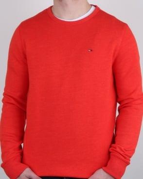 Tommy Jeans Tommy Hilfiger Cotton Fleece Sweatshirt Orange