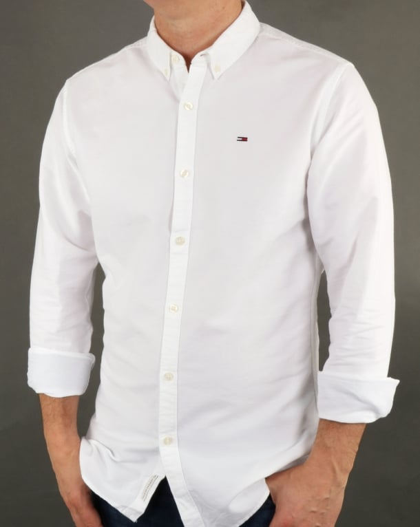7df610b79 Tommy Hilfiger Jeans Tommy Hilfiger Cotton Oxford Shirt Classic White