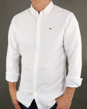 Tommy Hilfiger Jeans Tommy Hilfiger Cotton Oxford Shirt Classic White