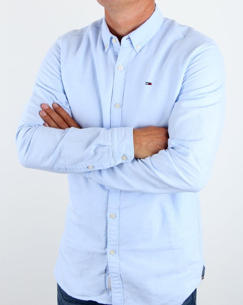 7a016c5a Tommy Hilfiger Cotton Oxford Shirt Light Blue,long sleeve,mens