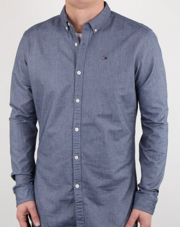 Tommy Hilfiger Cotton Oxford Shirt Navy