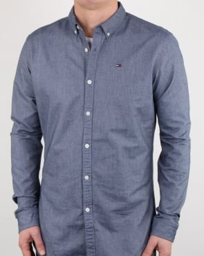 Tommy Hilfiger Jeans Tommy Hilfiger Cotton Oxford Shirt Navy
