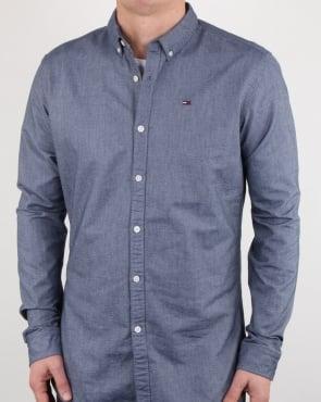 Tommy Jeans Tommy Hilfiger Cotton Oxford Shirt Navy