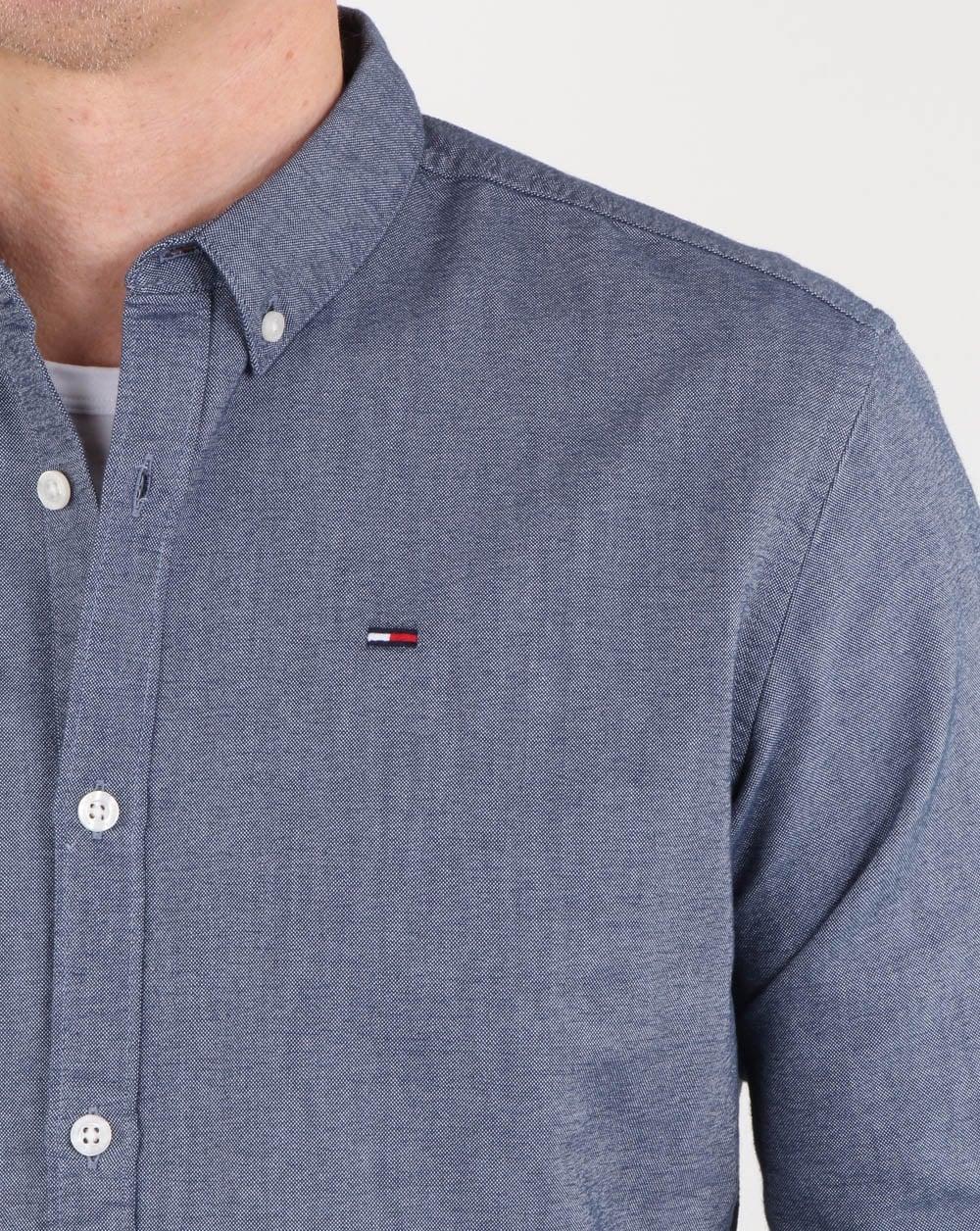 Tommy Hilfiger Cotton Oxford Shirt Navy, mens, Shirt, button collar 221c149b5b96