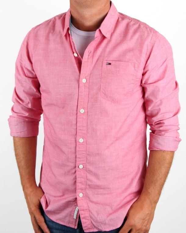 Tommy Hilfiger Cotton Oxford Shirt Salsa