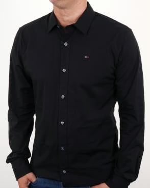 Tommy Hilfiger Jeans Tommy Hilfiger Cotton Stretch Shirt Black
