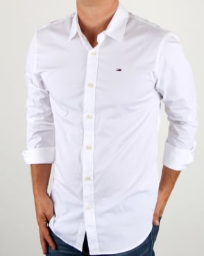Tommy Jeans Tommy Hilfiger Cotton Stretch Shirt White