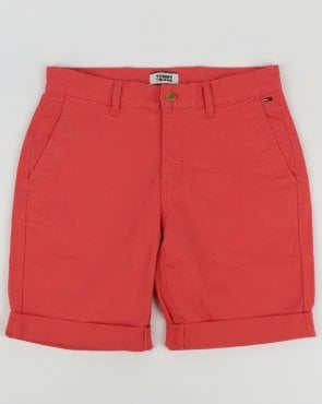 Tommy Hilfiger Jeans Tommy Hilfiger Cotton Twill Shorts Pink