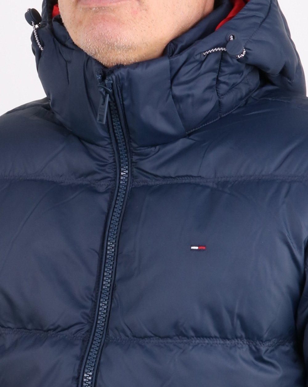 Tommy Hilfiger Down Jacket Navy Mens Coat Padded