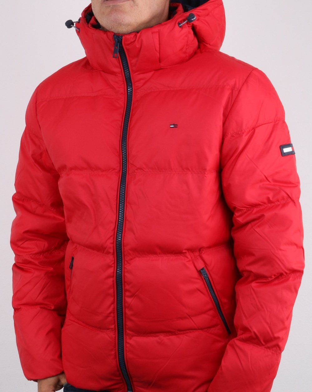 89121f77f6 Tommy Hilfiger Down Jacket Red