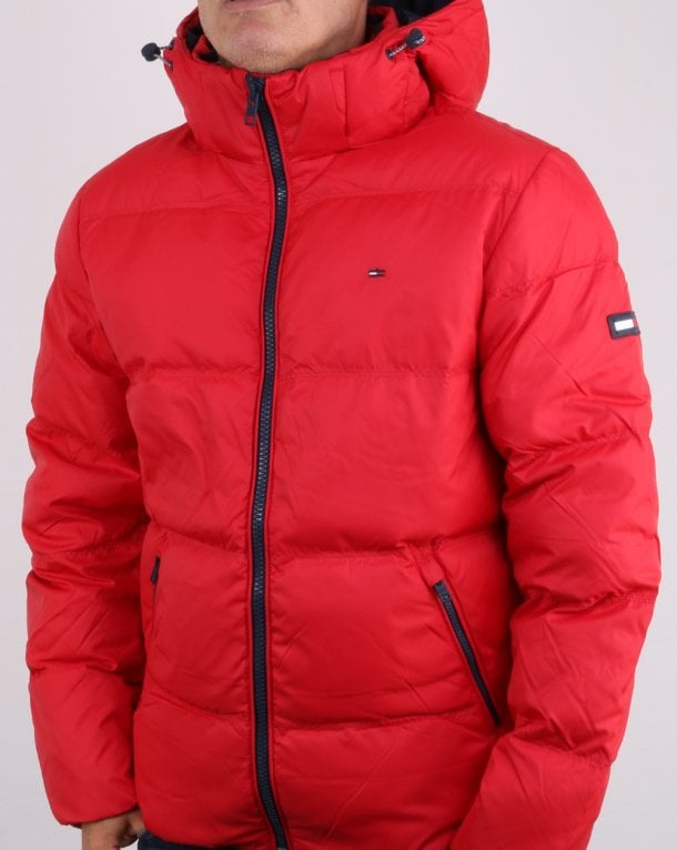 the best wholesale great prices Tommy Hilfiger Down Jacket Red