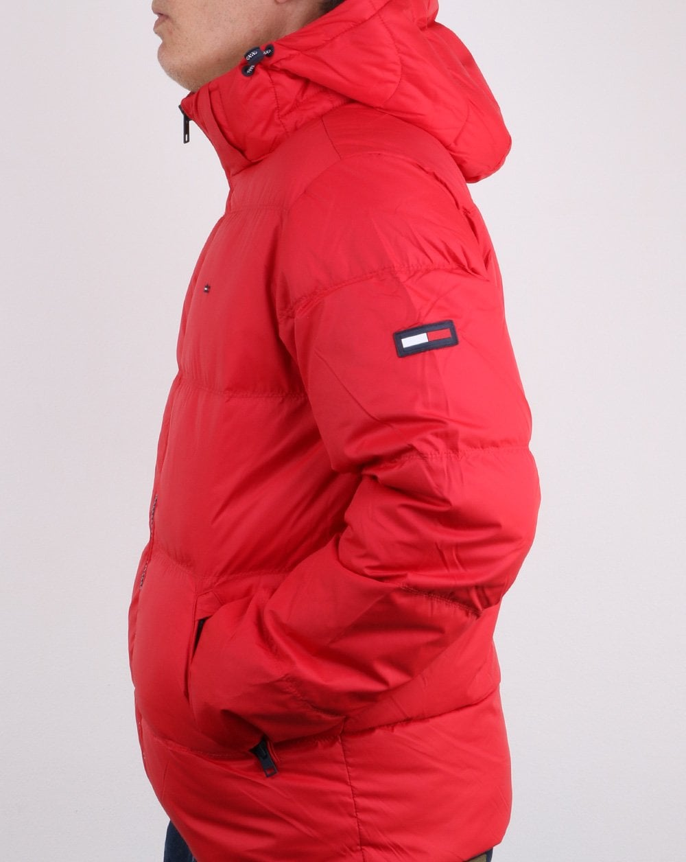 Tommy Hilfiger Down Jacket Red Mens Coat Padded Warm