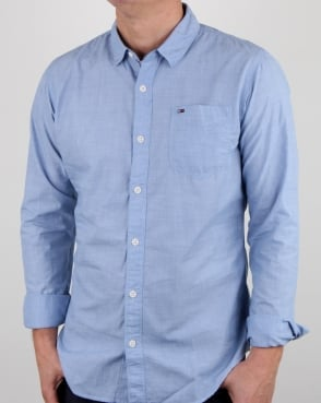 Tommy Hilfiger Jeans Tommy Hilfiger End On End Shirt Bright Cobalt