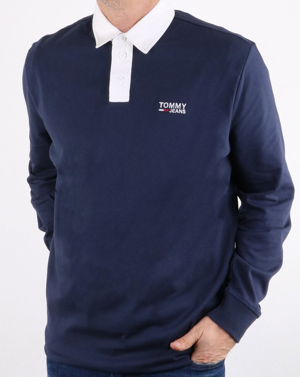 8b91043c85e Tommy Hilfiger Essential Rugby Shirt Navy   80s casual classics