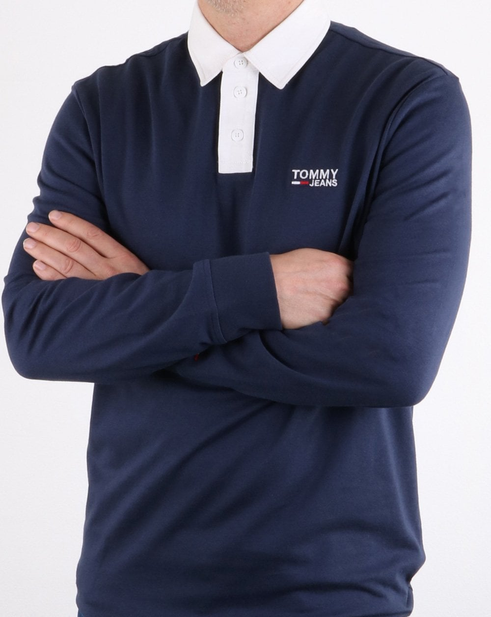 Tommy Hilfiger Jeans Tommy Hilfiger Essential Rugby Shirt in Navy Blue
