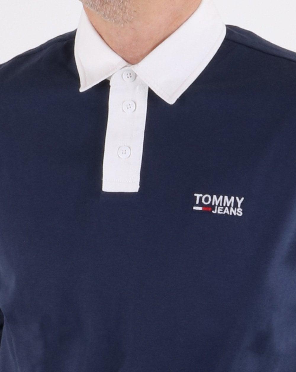 7ddd999f9 Tommy Hilfiger Essential Rugby Shirt Navy | 80s casual classics