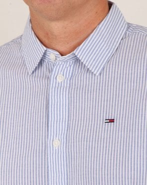 Tommy Hilfiger Jeans Tommy Hilfiger Essential Stripe Shirt Classic White/Blue