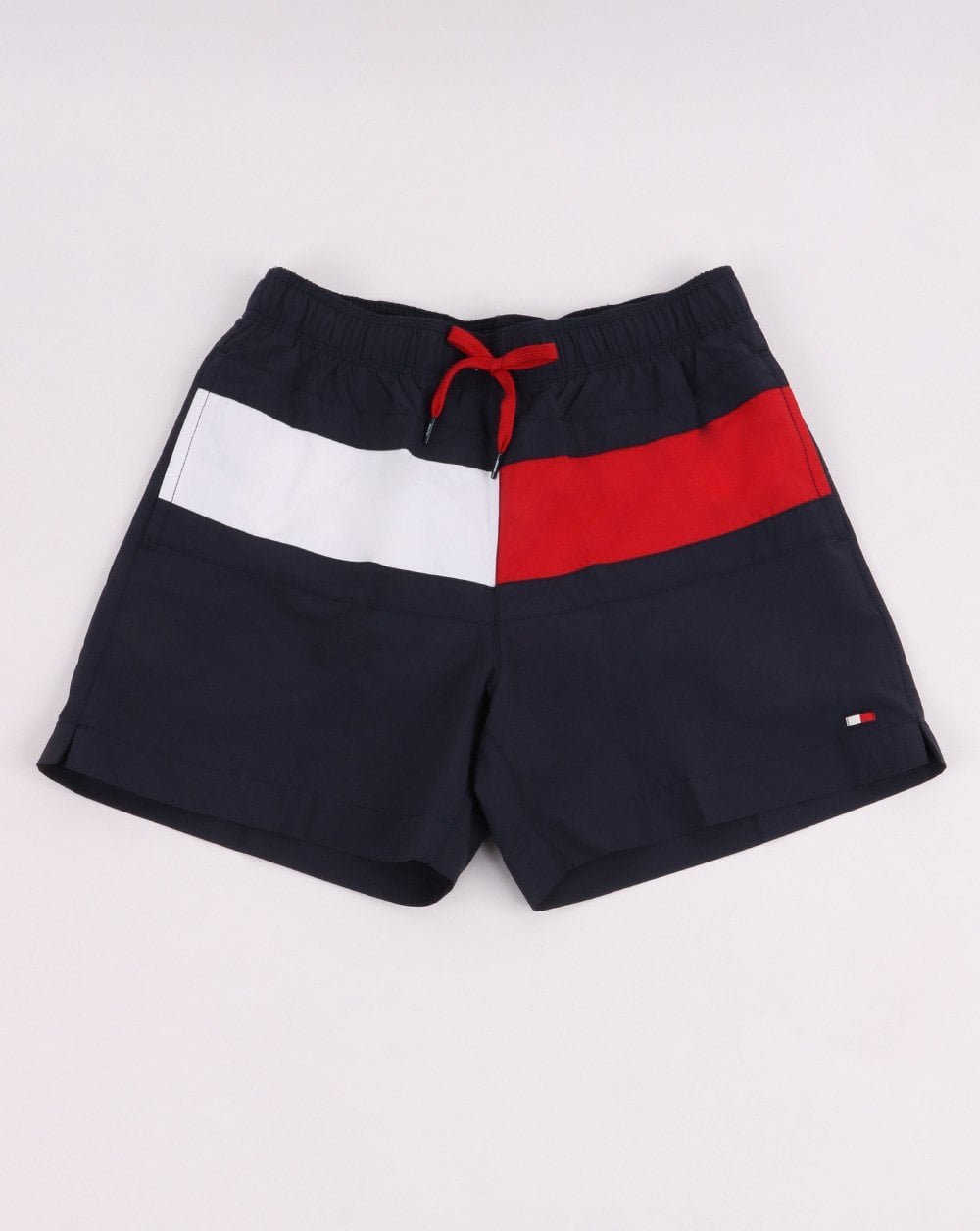 7360169795 Tommy Hilfiger Swim Shorts in Navy?red/White | 80s Casual Classics
