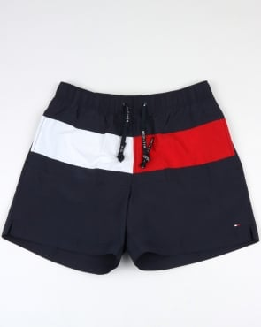 Tommy Jeans Tommy Hilfiger Flag Swim Shorts Navy