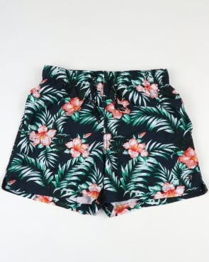 Tommy Jeans Tommy Hilfiger Hibiscus Print Swim Shorts Navy
