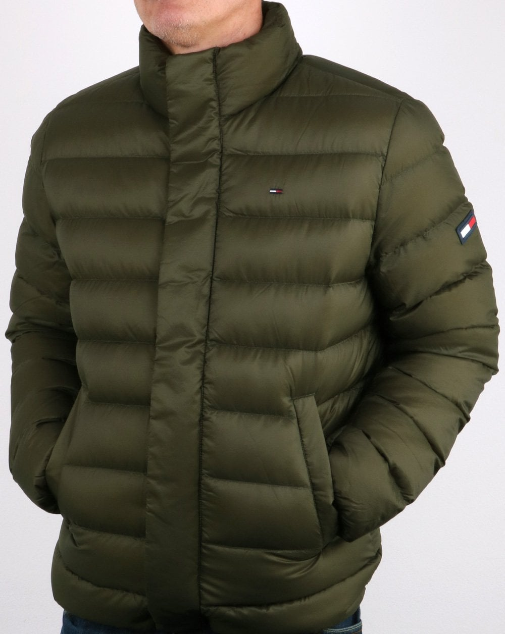 5a08d5fc1b Tommy Hilfiger Light Down Jacket Forest Night